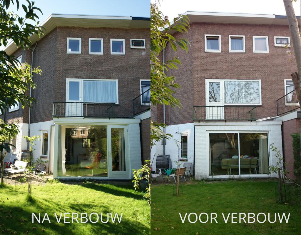 voor en na de verbouwing